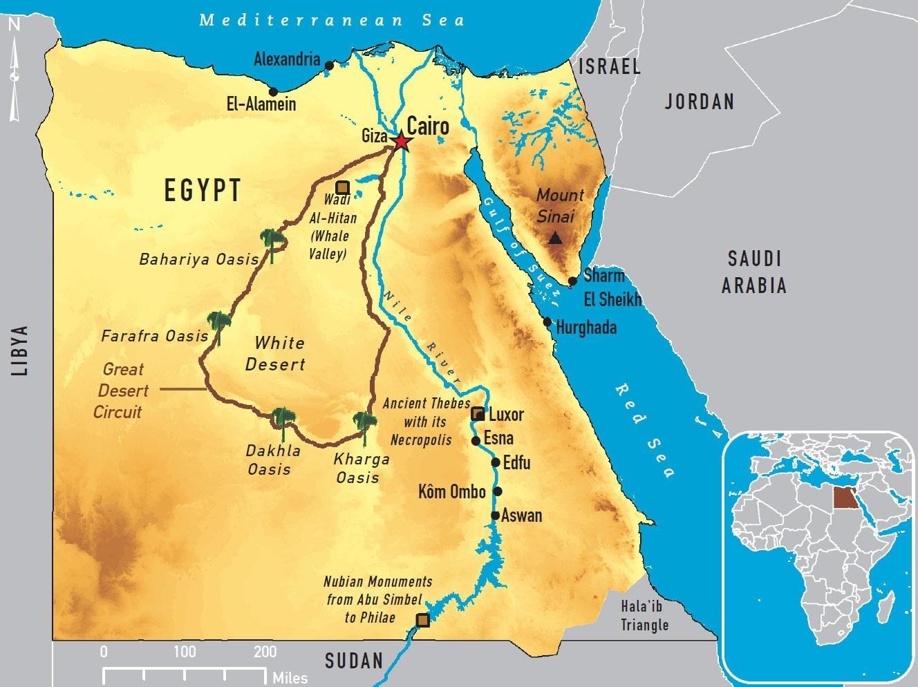 Cairo world map - Cairo map world (Egypt)