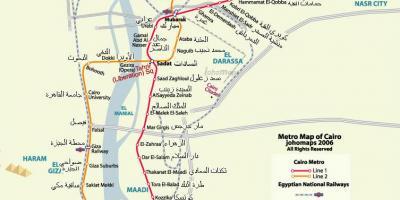 Cairo map - Maps Cairo (Egypt)